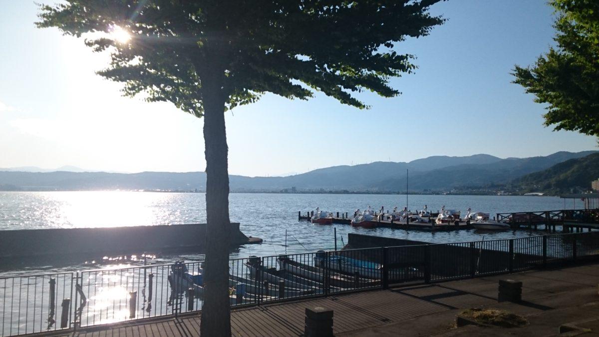 諏訪湖周回ランニングコース