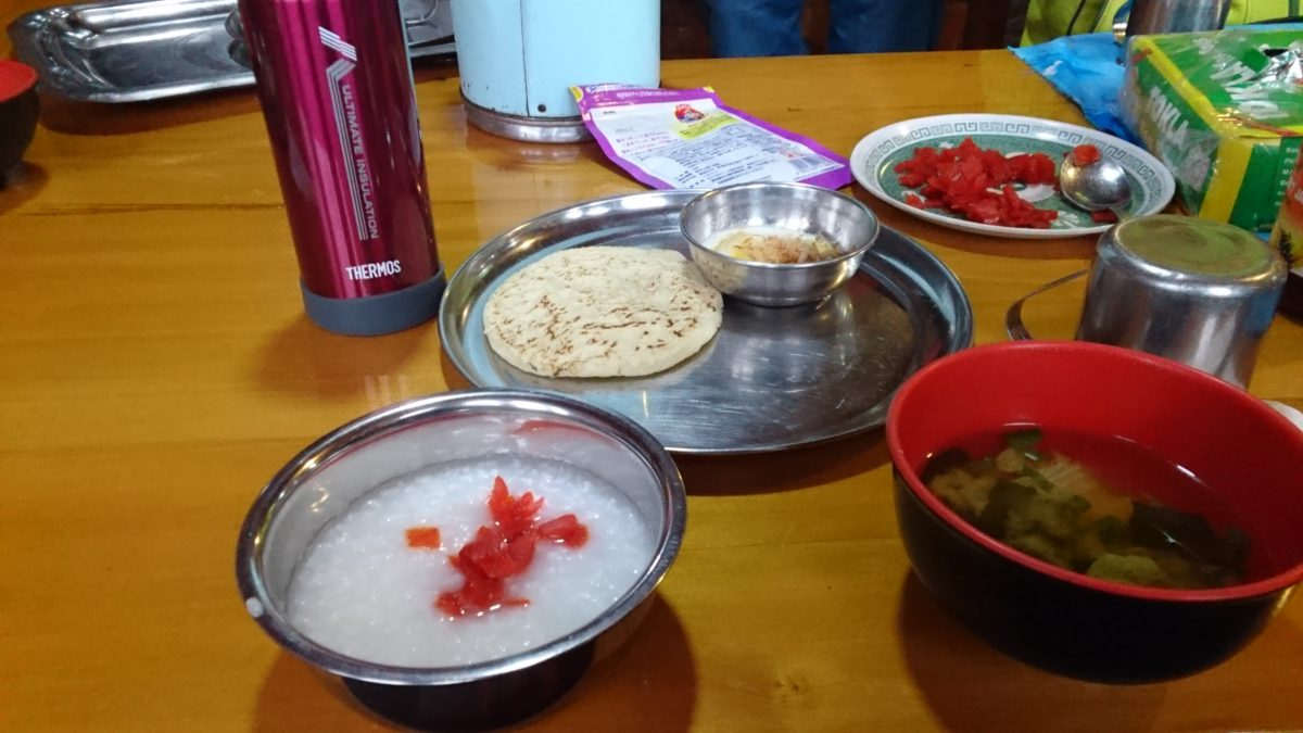 本日の朝食