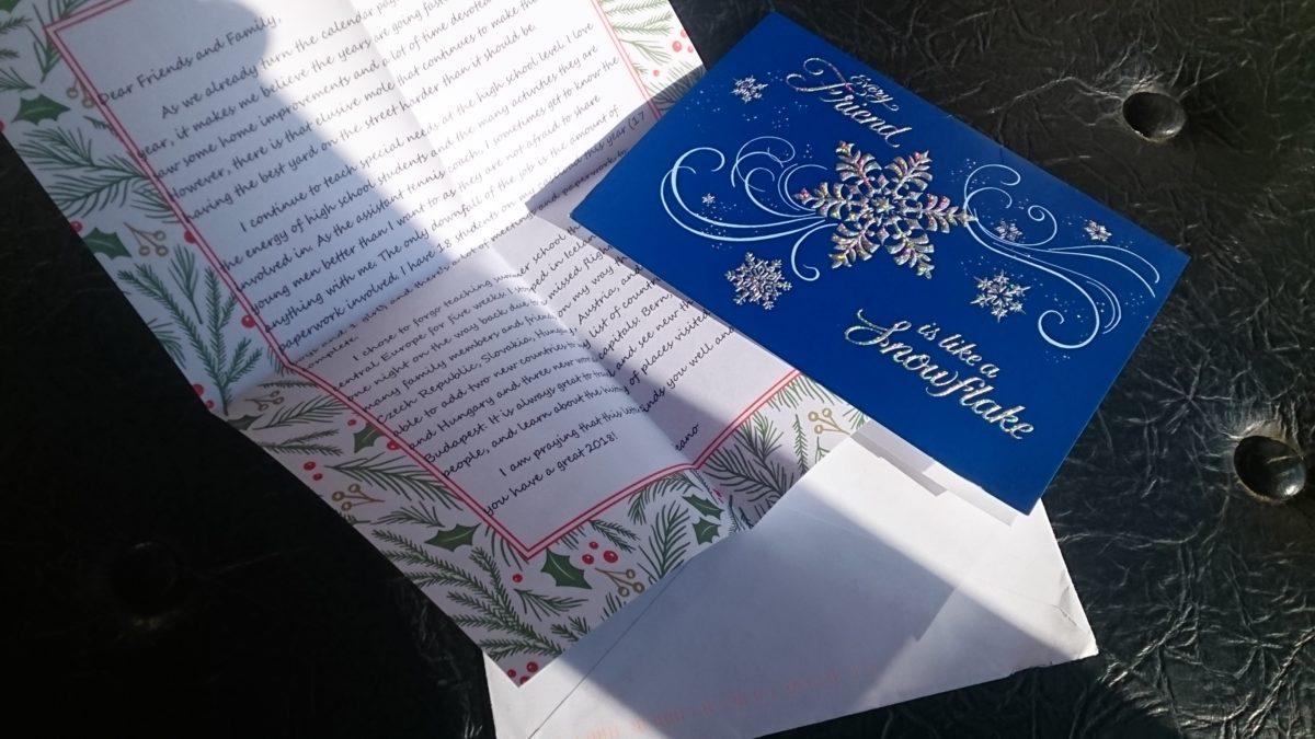 クリスマス カード到着